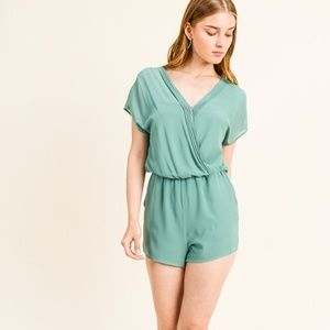 Chiffon Pocketed Romper